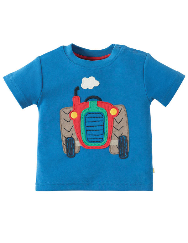 Frugi T-Shirt  LITTLE  TRACTOR  in blau