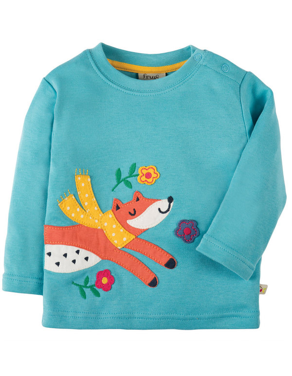 Frugi Shirt FUCHS LITTLE DISCOVERY in aqua