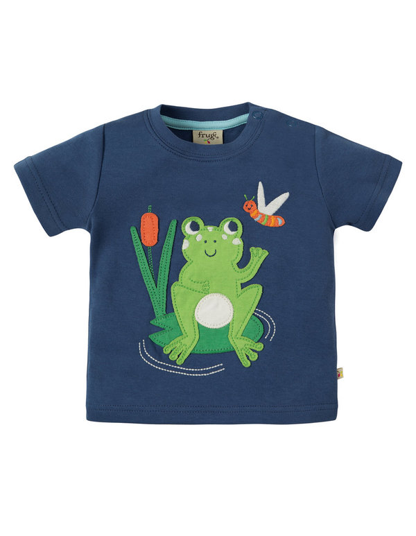 Frugi - Little Creature Applique Top Frog - T-Shirt mit Frosch-Applikation