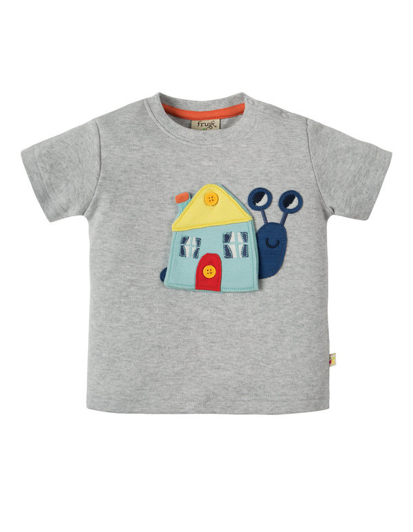 Frugi - Button Off Applique Top - Schnecke mit wechsel Applikationen