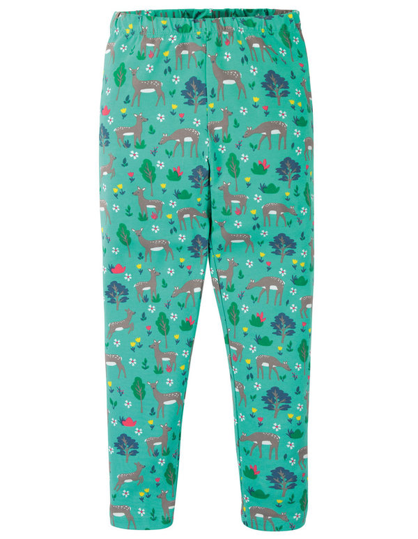 Frugi - Libby Printed Leggings Deer - Leggings mit Reh Druck