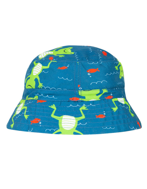 Frugi - Little Harbour Swimm Hat Ribbit River - Badehut Frosch mit UV Schutz