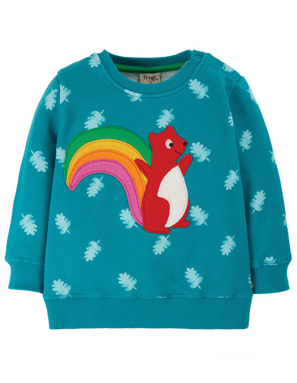 Frugi - little Jump About Jumper - Sweatshirt mit Eichhorn Applikation