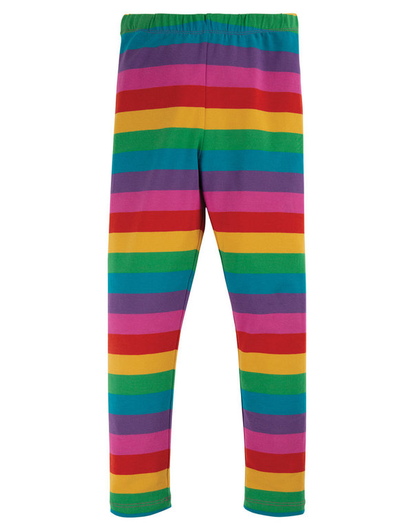 Frugi - Libby Striped Leggings Foxglove Rainbow - Leggings mit Regenbogenstreifen